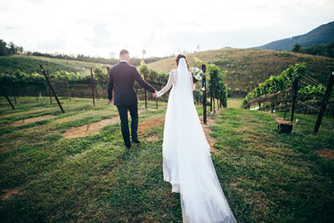 Winery wedding bliss